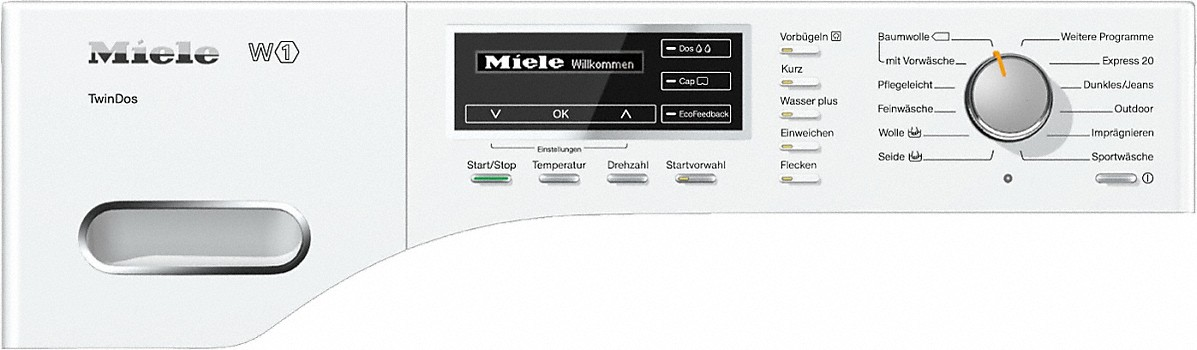 miele wml120 wps tdos w1 waschmaschine frontlader. Black Bedroom Furniture Sets. Home Design Ideas