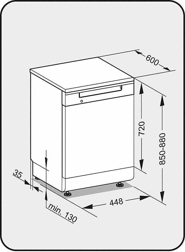 miele g 4620 sc active stand geschirrsp ler. Black Bedroom Furniture Sets. Home Design Ideas