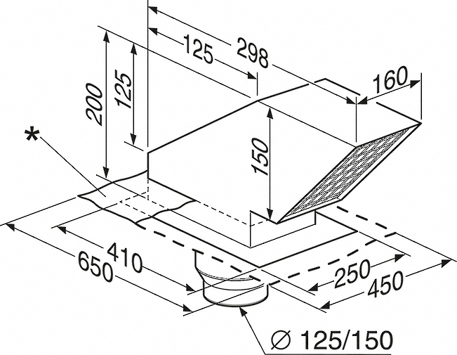 miele ddf 125 dachdurchf hrung. Black Bedroom Furniture Sets. Home Design Ideas