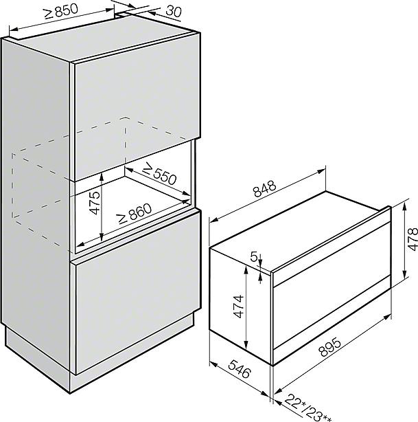 miele herde und back fen h 6890 bp backofen 90cm. Black Bedroom Furniture Sets. Home Design Ideas
