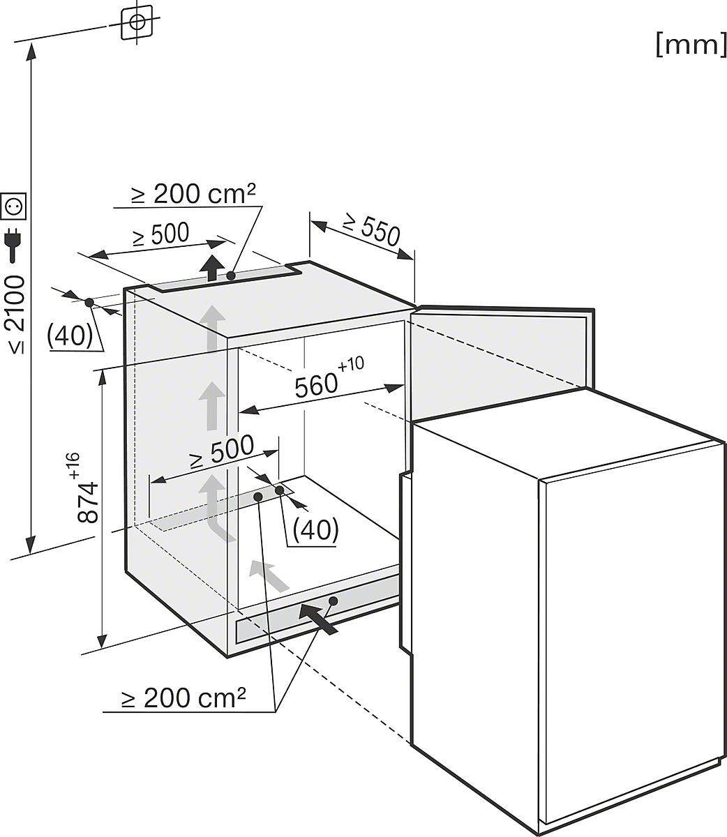 miele k 32142 if einbau k hlschrank. Black Bedroom Furniture Sets. Home Design Ideas