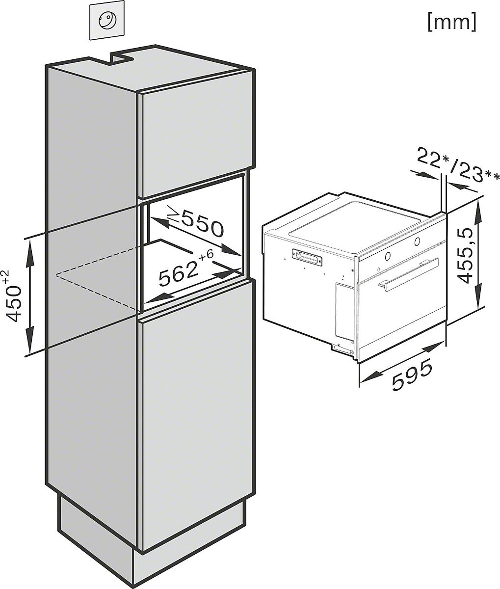 miele m 6260 tc einbau mikrowellenger t. Black Bedroom Furniture Sets. Home Design Ideas
