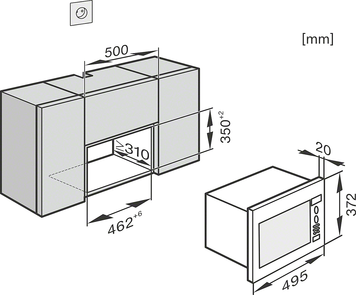 miele m 6022 sc einbau mikrowellenger t. Black Bedroom Furniture Sets. Home Design Ideas