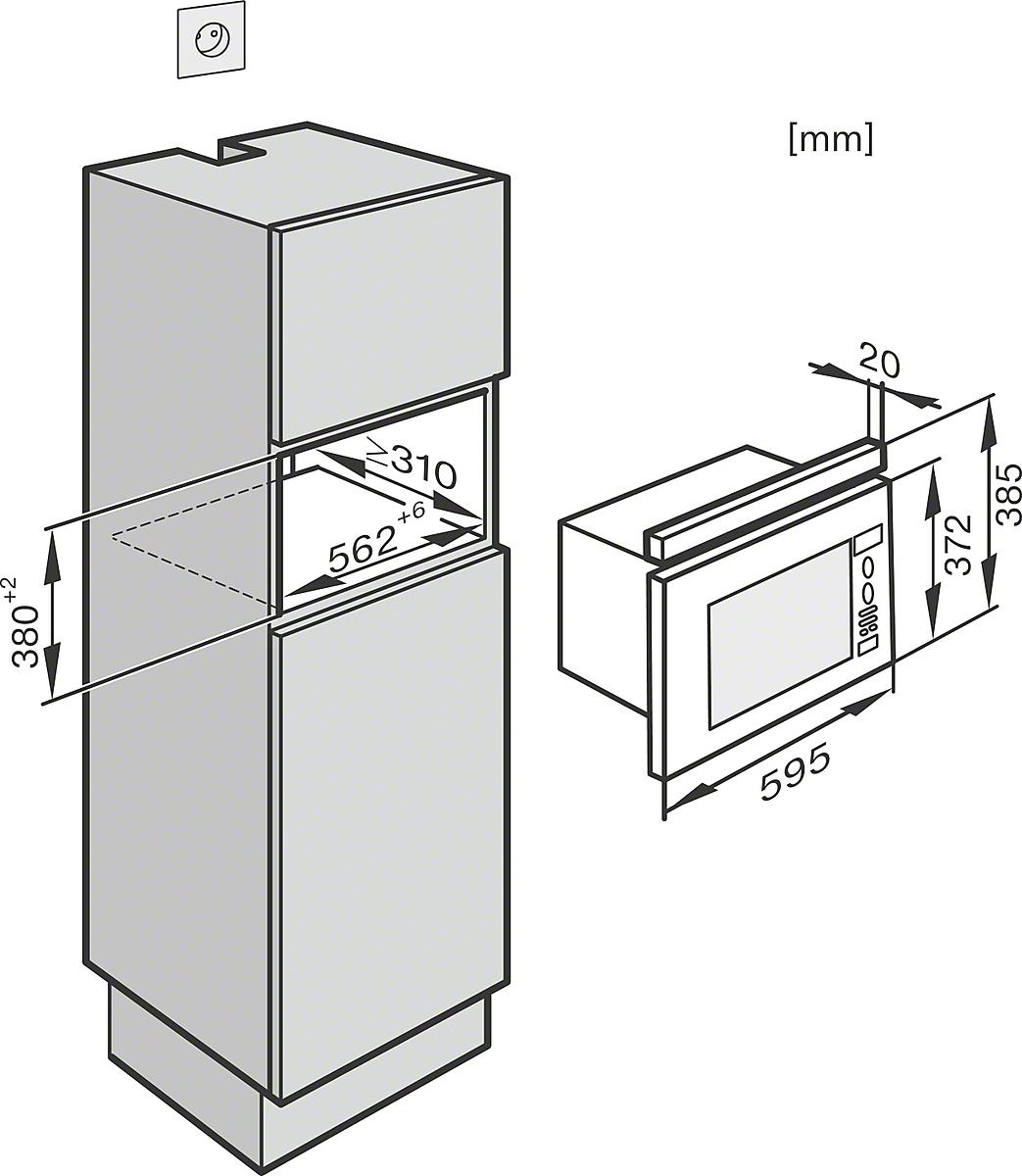 miele m 6030 sc einbau mikrowellenger t. Black Bedroom Furniture Sets. Home Design Ideas