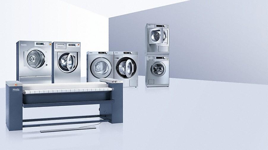 Miele professional waschmaschinen trockner mangeln