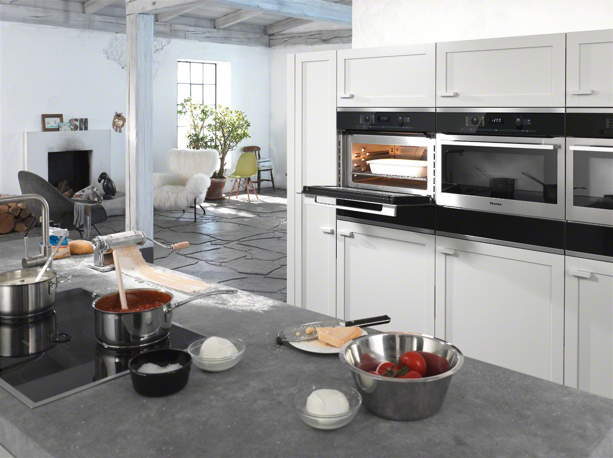 miele h 6100 bm backofen mit mikrowelle. Black Bedroom Furniture Sets. Home Design Ideas